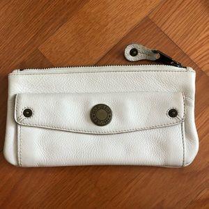 GAP white leather wallet